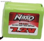 Batterie 7,2 volts NIcd  700 mAh, Nikko pour Vélocitrax. 